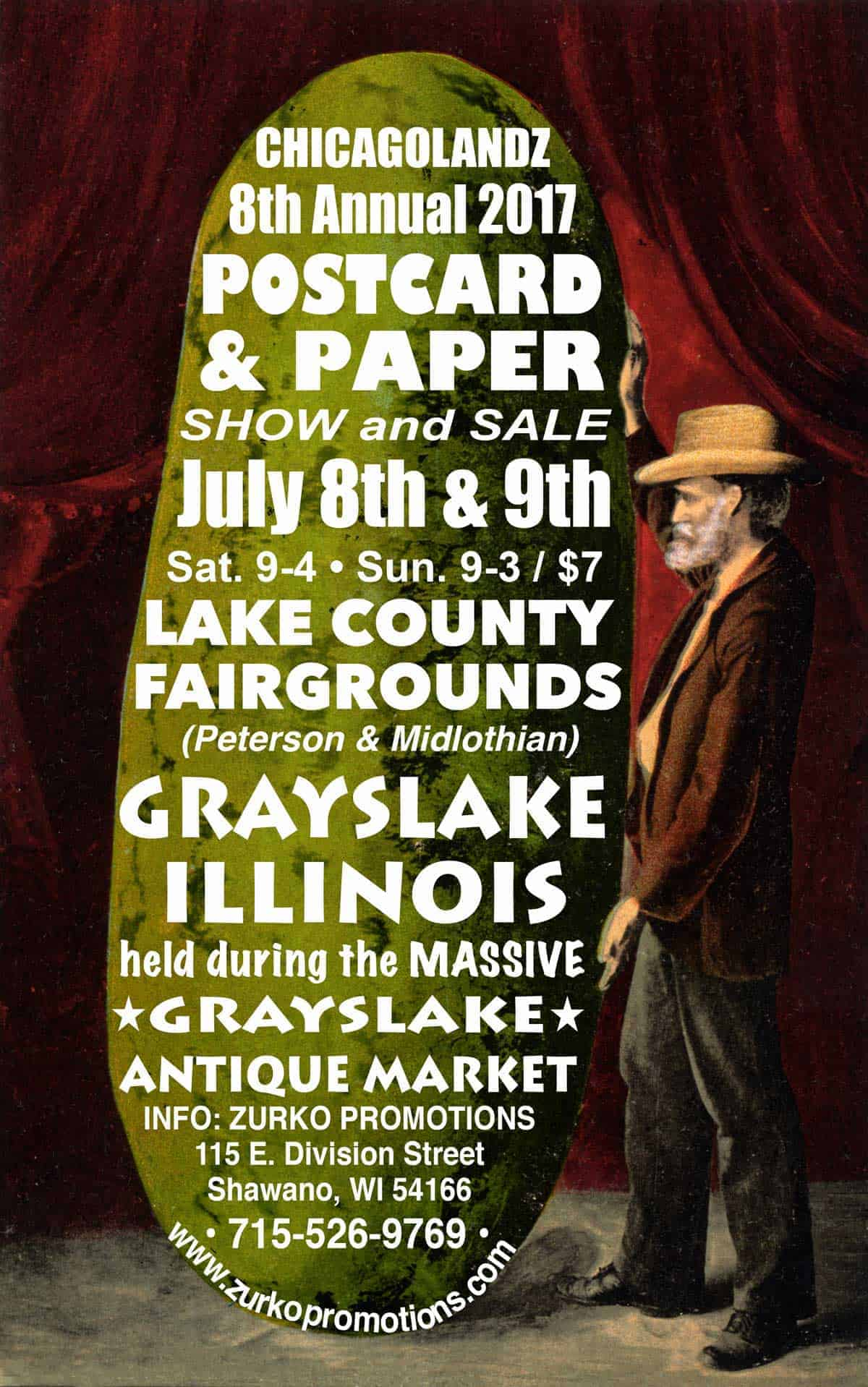 Chicago Grayslake Illinois Postcard and Paper Show