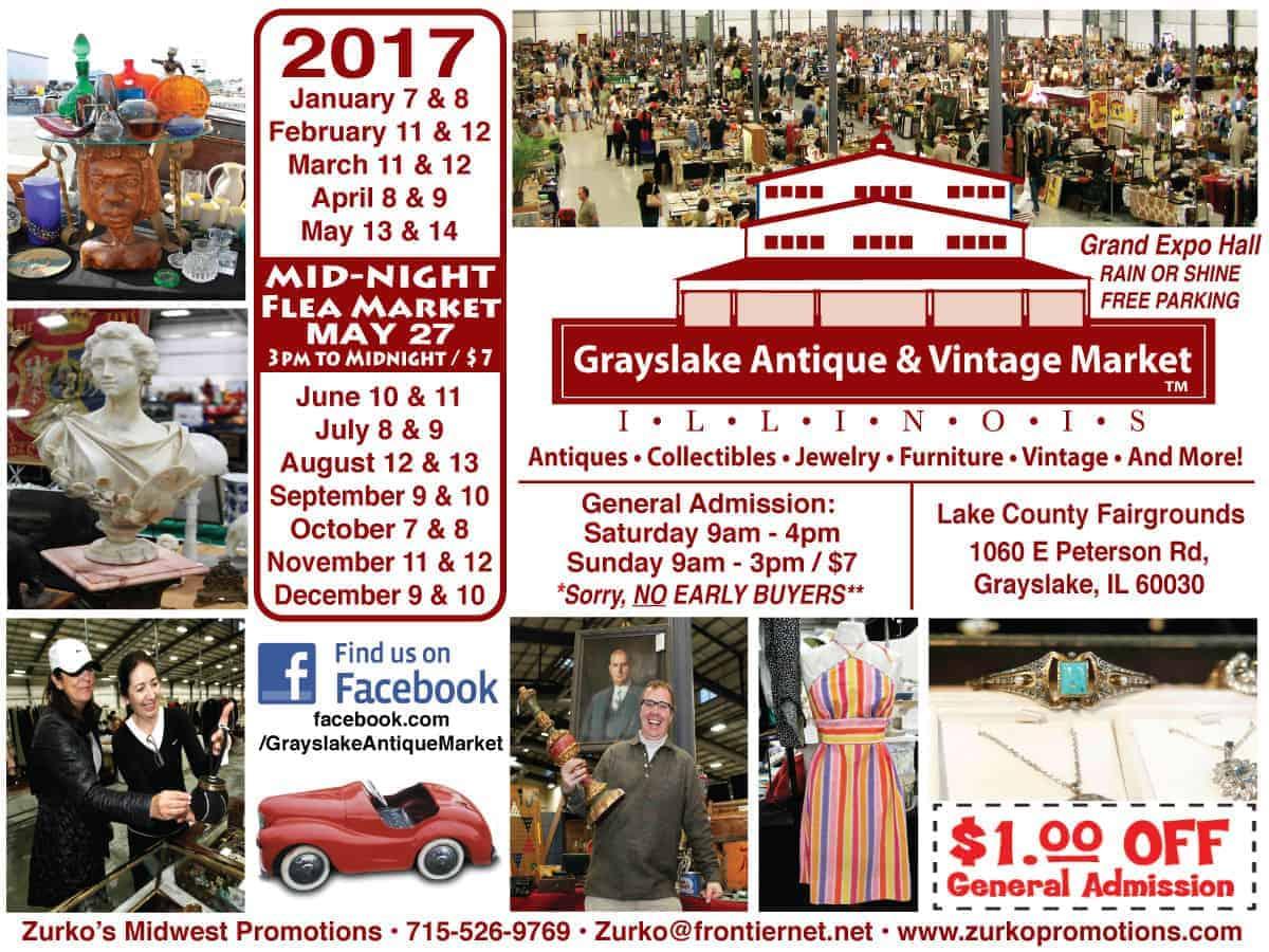 Grayslake Chicago Midwest Illinois Antique Vintage Flea Market