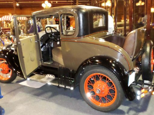 1929 Model A Special Coupe on display March 11 & 12 Grayslake Illinois Antique Vintage Flea Market