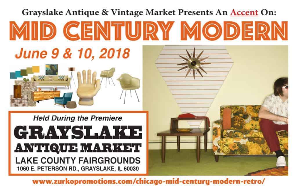 chicago grayslake Illinois mid century modern retro show