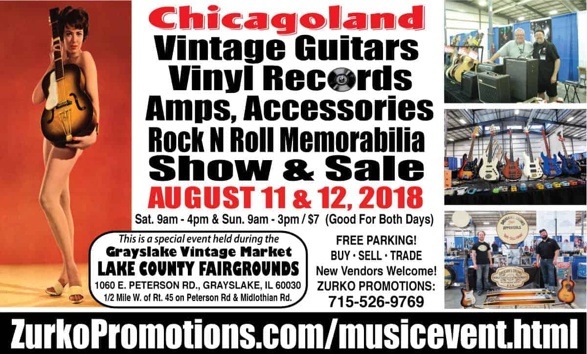 Chicago vintage guitar drum and record show zurko promotions for Jewelry show chicago 2018