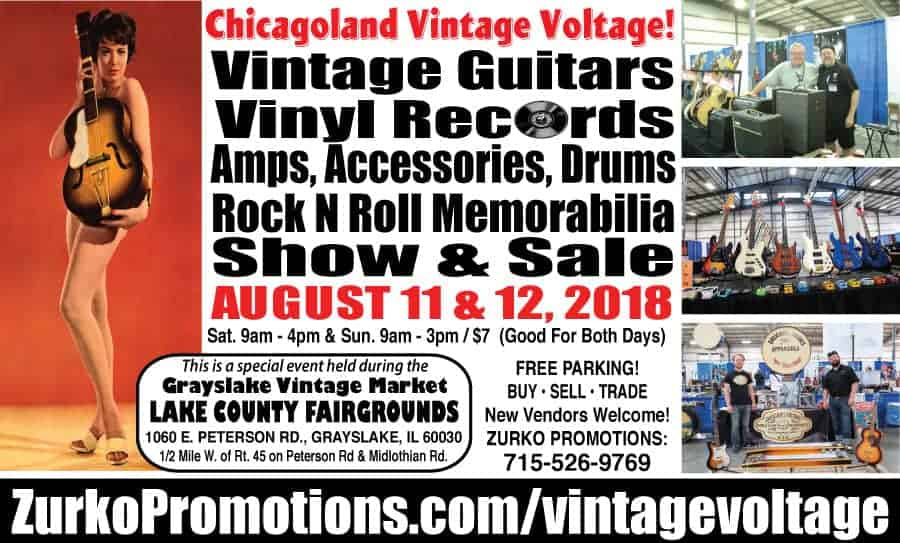 Chicago Vintage Guitars, Drums, Vinyl Record, and Rock Memorabilia Show and Sale