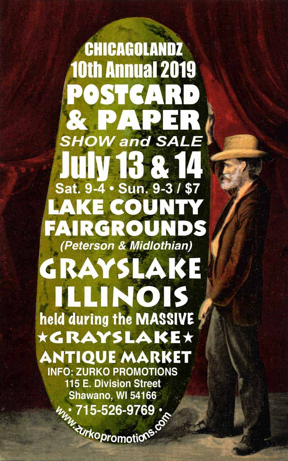 Chicago Grayslake Illinois Antique Vintage Market Postcard and Paper Show